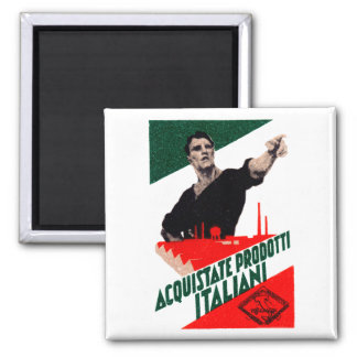 1925 Buy Italian Products Poster Square Magnet