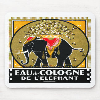 1925 Cologne De L Elephant Mousepads