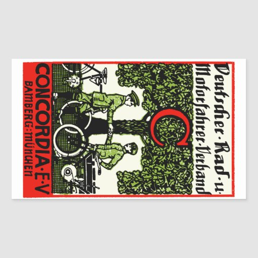 1925 German Bicycle and Motorcycle Club Sticker