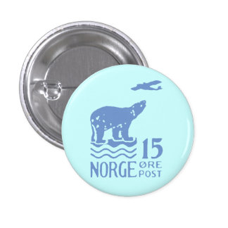 1925 Norwegian Polar Bear 3 Cm Round Badge