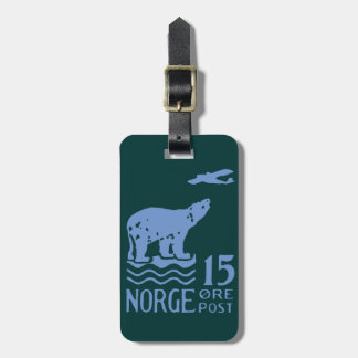 1925 Norwegian Polar Bear Luggage Tag