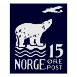 1925 Norwegian Polar Bear Poster