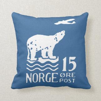 1925 Norwegian Polar Bear Throw Pillow