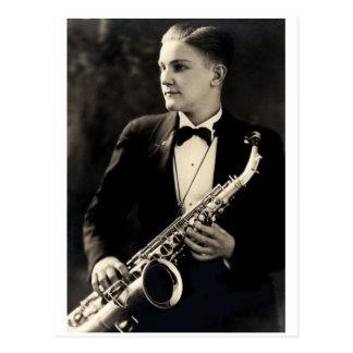 1925 Sax Musician Postcards