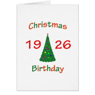 1926 Christmas Birthday Greeting Card