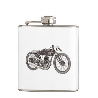 1926 Garelli 348cc Racing Motorcycle Hip Flask