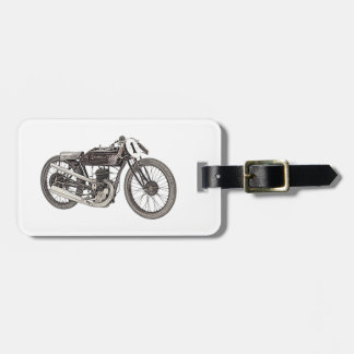 1926 Garelli Racing Motorcycle Luggage Tag