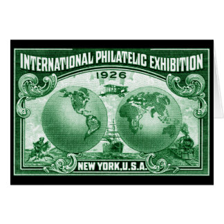 1926 International Philatelic Expo New York Note Card