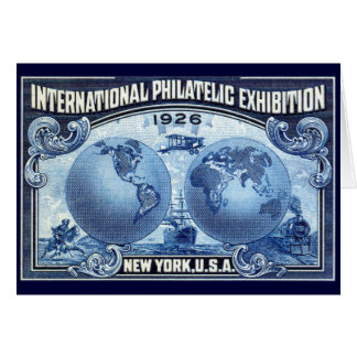 1926 International Philatelic Expo New York Note Card