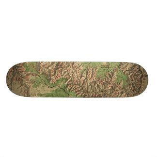 1926 Map of Grand Canyon National Park Arizona Skate Deck