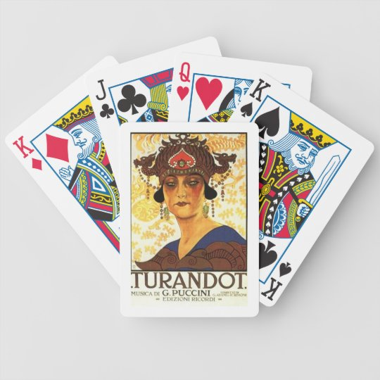 1926 Poster - Turandot by Puccini Bicycle Playing