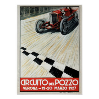 1927 Circuito del Pozzo Verona Auto Race Poster