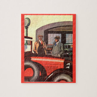 1927 Kelly-Springfield tire ad two men with cigars Jigsaw Puzzle