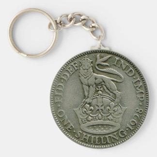1928 British shilling keyring Key Chains