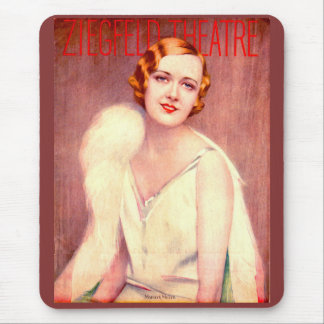 1928 Ziegfeld Theatre program cover Marilyn Miller Mouse Mat