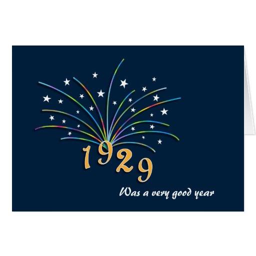 1929 A Very Good Year 85th Birthday Card