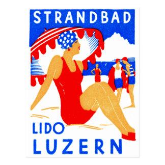 1929 Art Deco Strandbad Lido Luzern Postcards