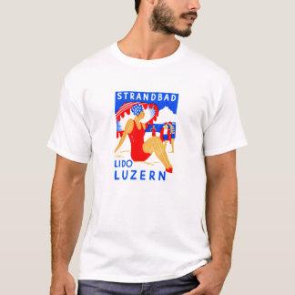 1929 Art Deco Strandbad Lido Luzern T-Shirt