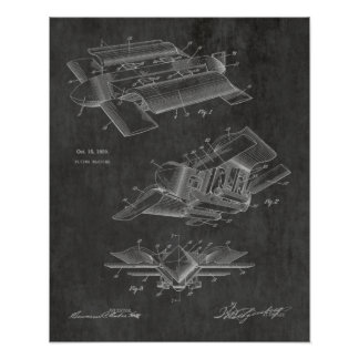 1929 Bizarre Airplane Patent Art Drawing Print