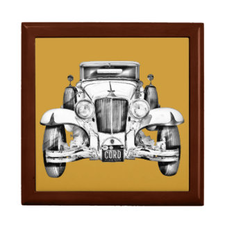 1929 Cord 6-29 Cabriolet Antique Car Illustration Jewelry Boxes