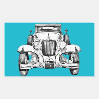 1929 Cord 6-29 Cabriolet Antique Car Illustration Sticker