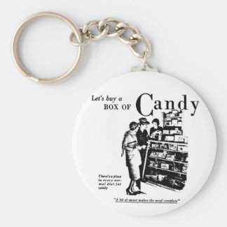 1930 Candy Newspaper Advertisement Key Ring