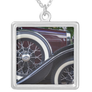 1930 Ford A Classic Car Silver Plated Necklace