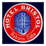 1930 Hotel Bristol Cuba Poster
