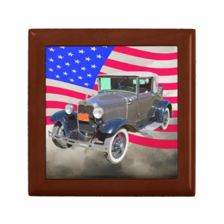 1930 Model A Ford  And American Flag Keepsake Boxes