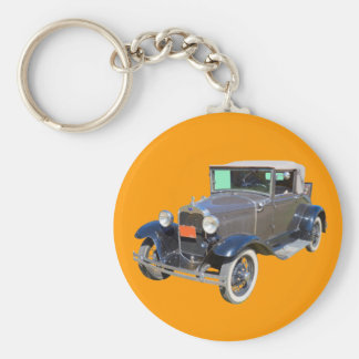 1930 Model A Ford Roadster Convertible Keychain