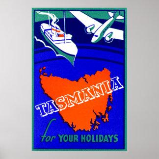 1930 Tasmania Travel Poster