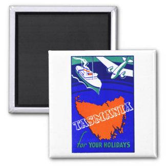 1930 Tasmania Travel Poster Magnet