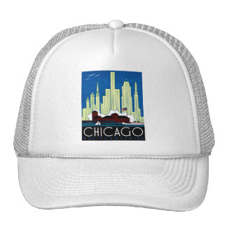 1930 Visit Chicago Poster Mesh Hats