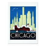 1930 Visit Chicago Poster Invite