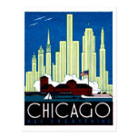 1930 Visit Chicago Poster Post Card
