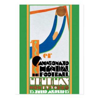1930 World Cup Football Poster Post Card