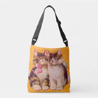 1930s adorable floofy kittens crossbody bag