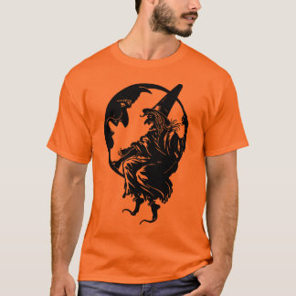 1930s Art Deco Witch and Moon T-Shirt