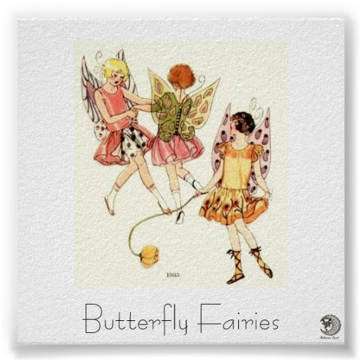 1930's Butterfly Fairies Poster