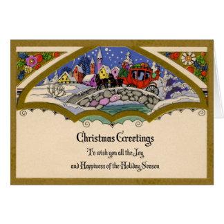 1930s Christmas Greetings Card