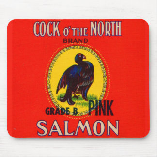1930s Cock o' the North salmon can label no. 1 Mouse Mat