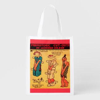 1930s comic strip paper doll Princess Wootietoot Reusable Grocery Bag