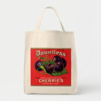 1930s Dauntless Cherries in Heavy Syrup can label