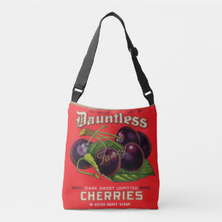 1930s Dauntless Cherries in Heavy Syrup can label Crossbody Bag