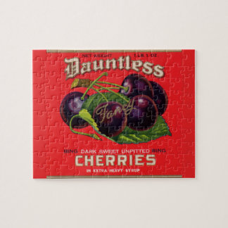1930s Dauntless Cherries in Heavy Syrup can label Jigsaw Puzzle