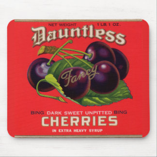 1930s Dauntless Cherries in Heavy Syrup can label Mouse Pad