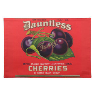 1930s Dauntless Cherries in Heavy Syrup can label Placemat