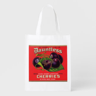 1930s Dauntless Cherries in Heavy Syrup can label Reusable Grocery Bag
