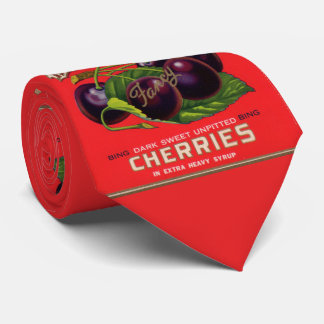 1930s Dauntless Cherries in Heavy Syrup can label Tie