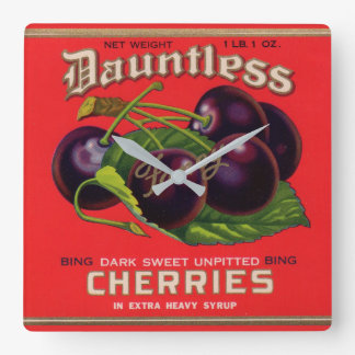 1930s Dauntless Cherries in Heavy Syrup can label Wallclock
